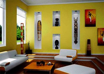warna cat ruang tamu cerah