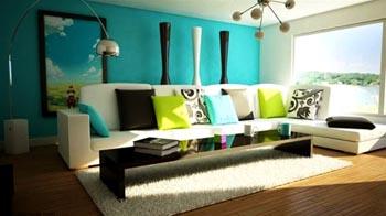 warna cat ruang tamu hijau tosca